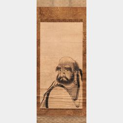 Hanging Scroll Portrait of Daruma