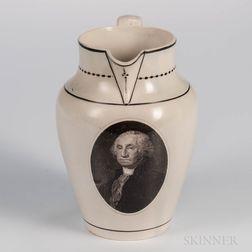 Herculaneum Creamware Washington Jug