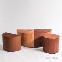 Four Frank Robinson-designed Teak Veneer Side Tables