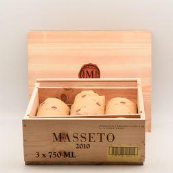 Tenuta dellOrnellaia Masseto 2010, 3 bottles (owc)