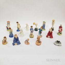 Seventeen Royal Doulton Figures