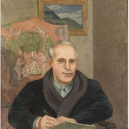 Edmund Quincy (American, 1903-1997)  Portrait of Professor D.E. Marquette.
