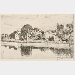 Childe Hassam (American, 1859-1935)      The Chimneys, Portsmouth