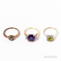 Three Gem-set Rings