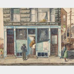 Salvatore L. Aucello (American, b. 1903)      Chicago Street Corner