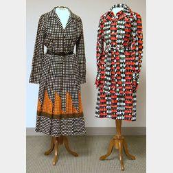 Lanvin and Helga Vintage Button-down Dresses