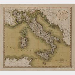 Italy. John Cary (1754-1835) A New Map of Italy