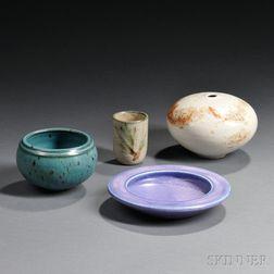 Four Vivika & Otto Heino Pottery Items