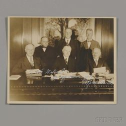 "Smith, Alfred Emmanuel ""Al"" (1873-1944) Signed Photo and Two Typed Letters Signed."