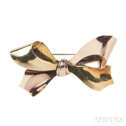 Tiffany & Co. 14kt Bicolor Gold Bow Brooch