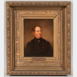Attributed to George Healy (American, 1813-1894)       Portrait of David G. Farragut.