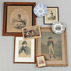 Eight Napoleon Prints and two Transfer-printed Napoleon Plates