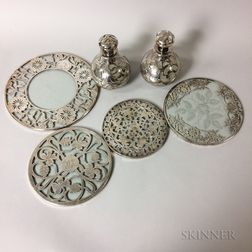 Group of Silver Overlay Tableware