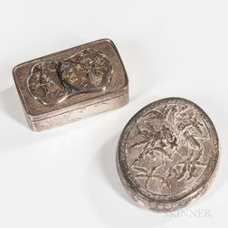 Two Southeast Asian Silver Boxes