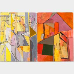 Irving B. Haynes (American, 1927-2005)      Two Unframed Abstract Works on Paper