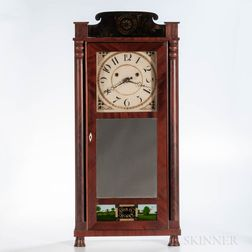 "Silas Hoadley ""Time is Money"" Shelf Clock"