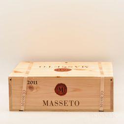 Tenuta dellOrnellaia Masseto 2011, 3 bottles (banded owc)