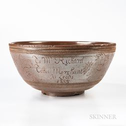 Nottingham Salt-glazed Presentation Punch Bowl