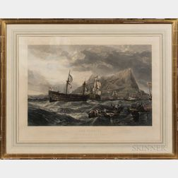 After Clarkson Stanfield (British, 1793-1867)      THE VICTORY Towed into Gibraltar After the Battle of Trafalgar