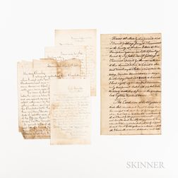 Four Letters Written from Savannah, Georgia, Near the End of the Civil War.