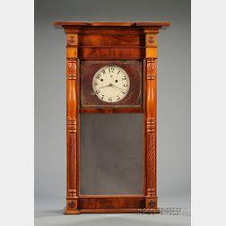 Mahogany Shelf Clock By Asa Munger
