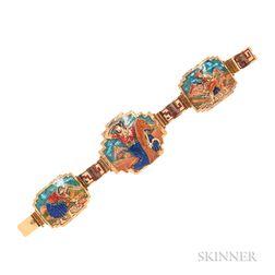 18kt Gold and Enamel Bracelet