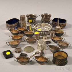 Group of Small Silver Tableware Articles