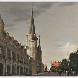 Thomas Adrian Fransioli (American, 1906-1997)      Jackson Square, New Orleans