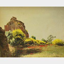 Guido Odierna (Italian, 1913-1991)      Garden Landscape, Capri