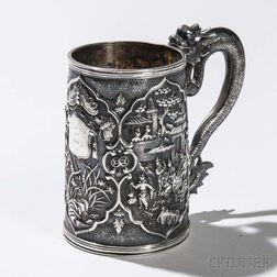 Chinese Export Silver Mug