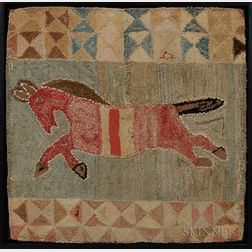 Flying Horse Hooked Rug