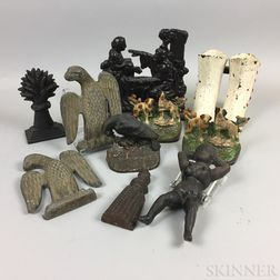Ten Cast Metal Objects