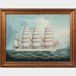 China Trade School, Second Half 19th Century      Portrait of the Clipper Ship Eclipse