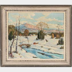 Jacob Greenleaf (American, 1887-1968)      Sleigh Ride
