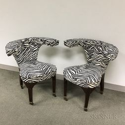 """Pair of Edwardian""""Cock Fighting"""" Chairs"""