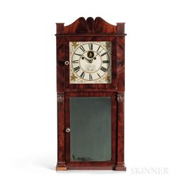 Hotchkiss & Benedict Eight-day Mahogany Shelf Clock