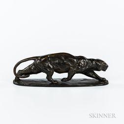 Henning Horzetzky (Straßburg, 1889-)       Bronze Model of a Panther