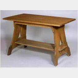 Quaint Arts & Crafts Oak Lunch Table