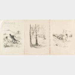 Max Slevogt (German, 1868-1932)      Five Lithographs from The Leatherstocking Tales  :