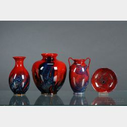 Four Royal Doulton Sung Ware Items