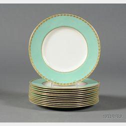 Set of Twelve Royal Worcester Porcelain Dinner Plates