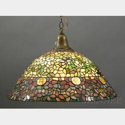 Anthony Hart (1924-1998) Mosaic Glass Hanging Lamp