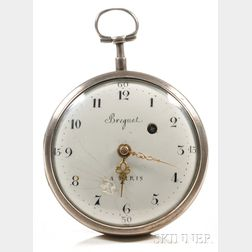 Silver Consular Case Watch Marked Breguet