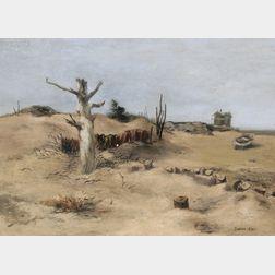 Julian Edwin Levi (American, 1900-1982)      The Lone Tree