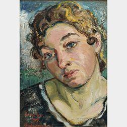 David Burliuk (Ukrainian, 1882-1967)      Portrait of a Woman