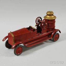 Pressed Steel Fire Pumper Wagon