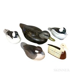 Four Carved and Painted Wood Duck Decoys