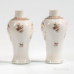 Pair of Export Porcelain Garnitures