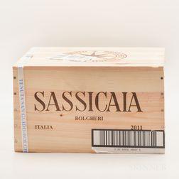Tenuta San Guido Sassicaia 2011, 6 bottles (banded owc)