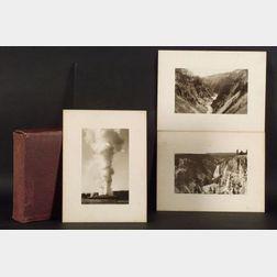 Frank Jay Haynes (American, 1853-1921)  Twenty-four Platinum Prints of Yellowstone Park, Wyoming